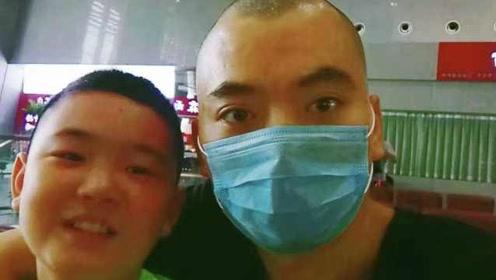 增肥救父男孩陪父赴京治疗:已筹到90万善款,前期手术费够了