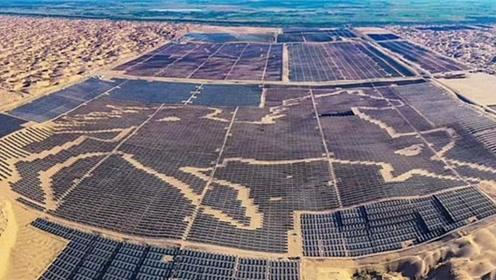 中国耗资150亿打造太阳能农场,世界上最大的太阳能电池板图像