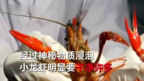 又快又干净?不法商贩用洁厕液洗小龙虾,或影响人体免疫系统