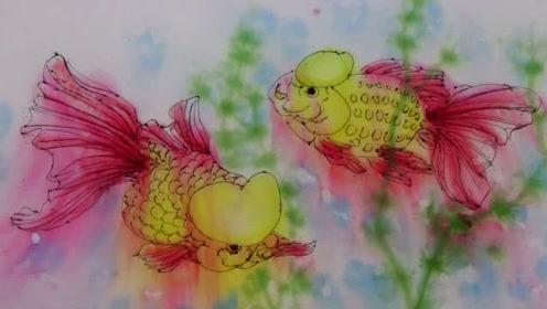 水中作画金鱼