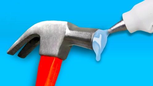 3个生活小妙招,锤子加上热熔胶,还藏着实用功能,实在太棒了