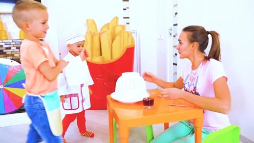 萌娃们的餐馆开业了,小家伙的厨艺真是棒棒哒!