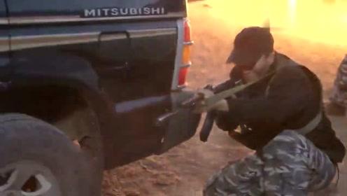 特战队空中打击恐怖分子,山猫队伍扛不住了,准备逃回基地