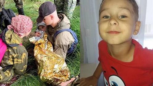 3岁男孩在狼熊出没森林失踪2天 靠喝沼泽水奇迹存活