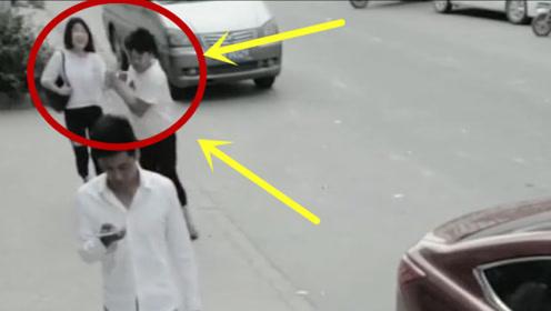 美女手机被抢,小伙一秒将劫匪撂倒,这动作太霸气了!