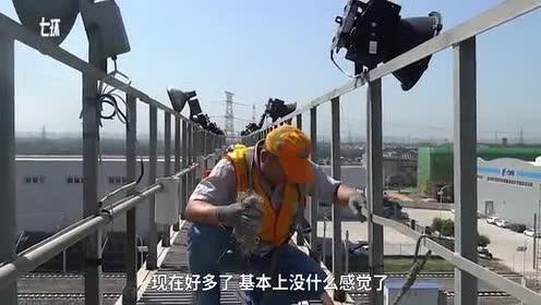 高空检修灯架,他一年清理800个鸟窝