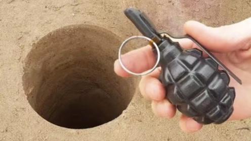 """老外将""""手雷""""扔进巨型洞穴,等待1秒后,场面瞬间失控!"""