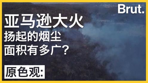 亚马逊森林大火烟尘面积有多大?几乎能覆盖1/3个中国