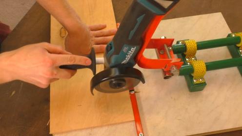 """牛人发明""""抽拉式""""切割机,效率提升3倍,50元造一把"""