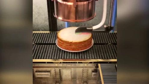 超级黑科技,做蛋糕的机械,要是味道好蛋糕师可以下岗了