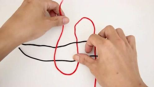 手工DIY:圆编十字吉祥结,做法简单又好看,小白也能学会!
