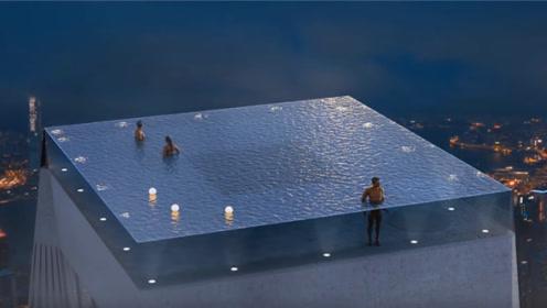 世界上各种夸张的泳池,玩得都是心跳,胆子小的人直接晕过去!