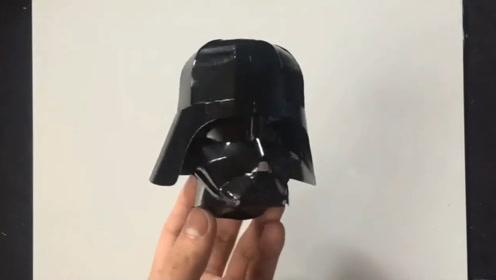 真有创意!牛人用易拉罐手工制作绝地武士的头盔,看起来很精致啊