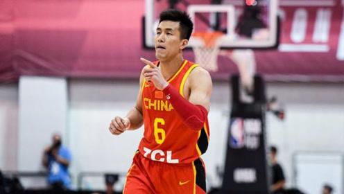 中国篮球新秀,郭艾伦变现太惊艳了,直接晃倒NBA球员