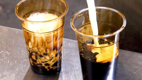 """""""虎纹奶茶""""原来是这样做的,光看着就流口水了"""