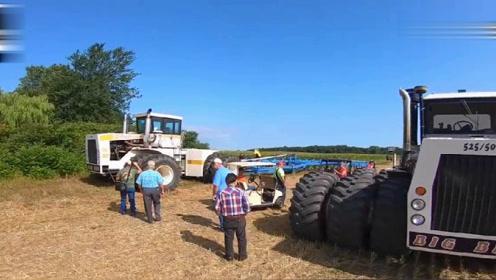 巨型犁地机一小时耕地105亩,有了它犁地还是难事吗?