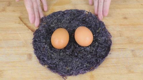 1块紫菜,2个鸡蛋,3步搞定,孩子点名要吃,上桌抢光光!