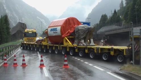 太牛了,想知道这种半挂车最大能拉多少吨?轮胎多到数不清