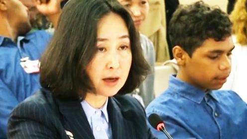 何超琼在联合国揭示香港真相,要求国际社会惩戒暴乱头目
