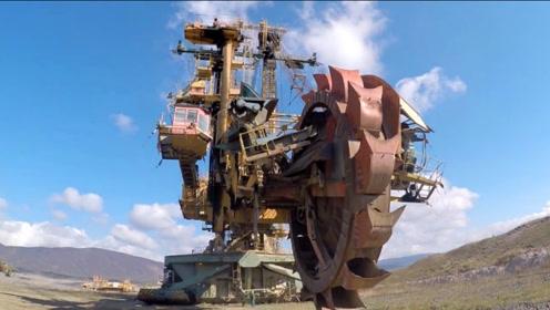世界大型煤矿机械,高几十楼层,被它的大齿轮所震撼