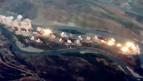 36吨炸弹毁灭恐怖分子!反恐联军将恐怖分子老巢炸成火海