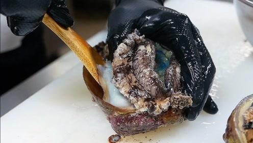 看日本天价鲍鱼怎么处理?用鲍鱼内脏做蘸料,网友:看完不想吃!