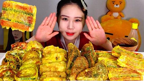创意吃美食:吃美味饺子 鸡蛋饼