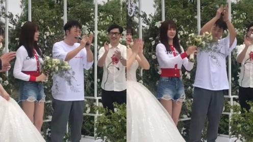 杜海涛沈梦辰参加助理婚礼,杜海涛超卖力喊:恭喜啦