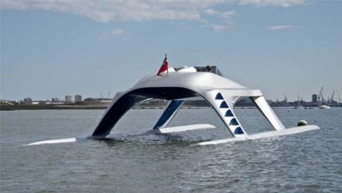 老外设计超豪华百万游艇,长了四条大长腿,45分钟往返两城市