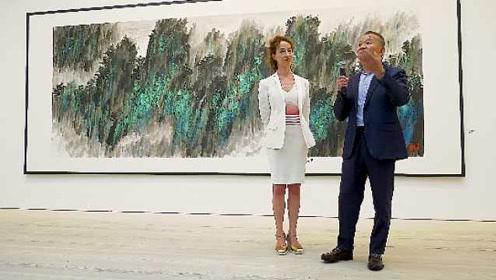 常熟籍画家英国举办山水画展,约两万人观展