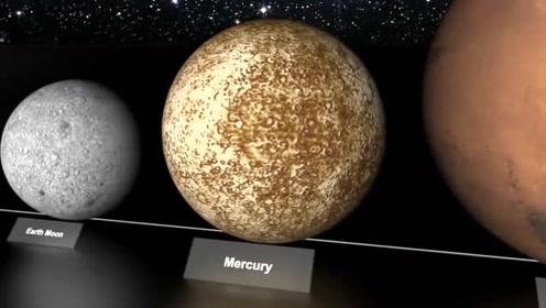 宇宙天体大小对比,地球比你想象小的多,和太阳相隔108个太阳