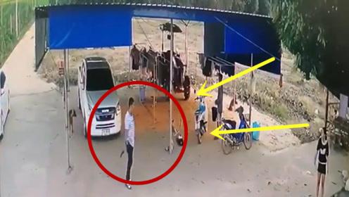 男子和女友吵架,一怒之下打死岳父,监控拍下全过程!
