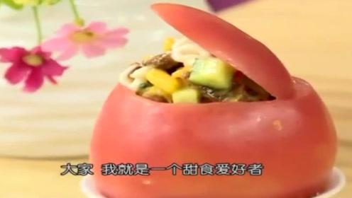 美食对对碰:番茄碗沙拉,沙拉未必都是素的!