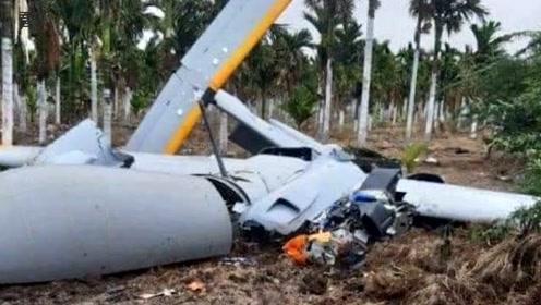 印度一架国产无人机坠毁 机上无人令围观村民吃惊