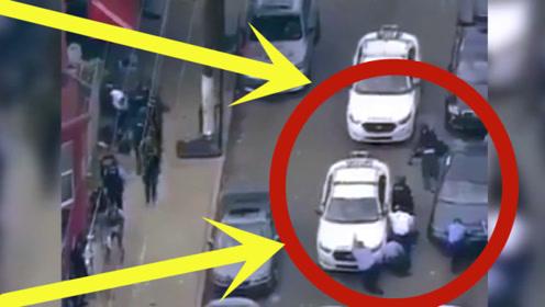 国外警匪当街枪战,不知道的还以为是在拍电影,紧张现场被拍下!