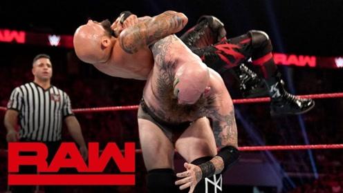 RAW1373期: 三对三大战AJ送亚历山大绳上斯泰尔斯冲击