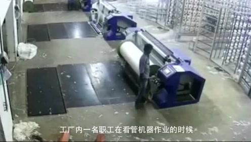 男子夜间加班,一时大意被卷入机器,监控拍下生前画面!
