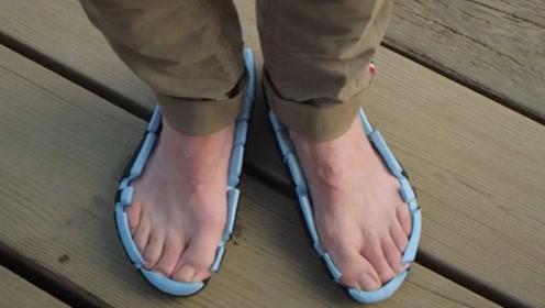 """老外发明只有鞋底的""""敞篷鞋"""",还获得了专利,一般人欣赏不了!"""
