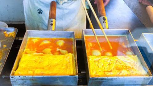 实拍日本鸡蛋特色小吃,手艺超多复杂,成品你想吃吗?