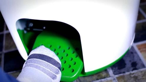 这洗衣机不用电,脚踩5分钟完成洗涤,租房客学生党的福音