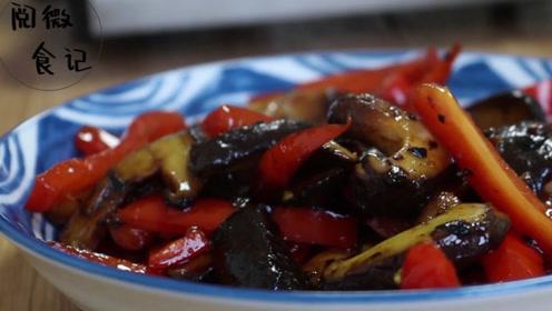 香菇的家常做法,加点红椒搭配,清香味美,好吃下饭