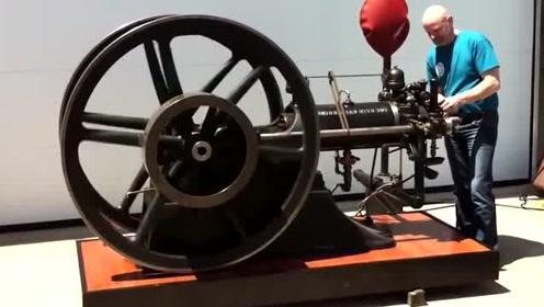 1889年的巨型发动机,是如何打火的?这也太费劲了!