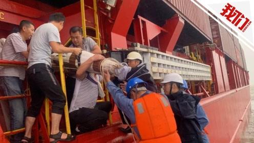 中国香港籍集装箱船有船员重伤 舟山海事人员顶十级大风救援