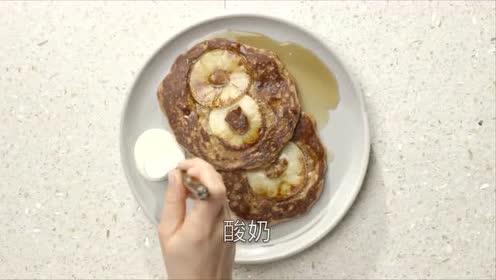 苹果燕麦煎饼