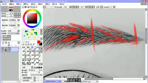 ps sai转手绘教程第9课:眉毛的走向