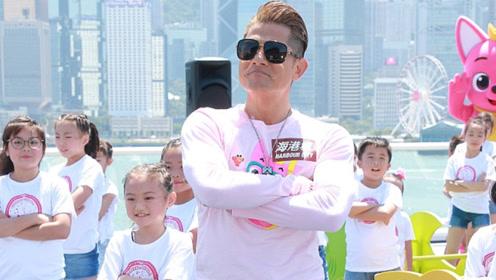 郭富城与小朋友们集体热舞 透露两岁女儿上音乐班天赋好_