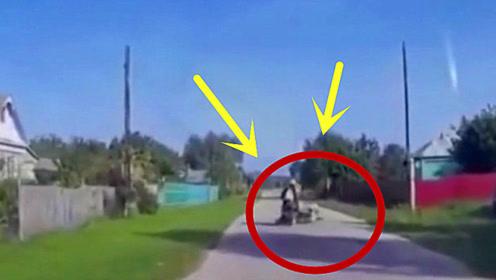"""鸭子化身""""土匪"""",偷袭摩托车司机,结果尴尬了!"""