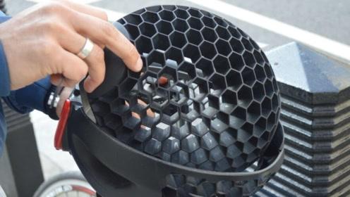 20个饮料瓶做的头盔!蜂窝结构,强度增加68%,重量超轻!