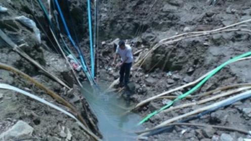 浙江水潭出现巨鱼,村民抽干后,竟发现北斗石窟!