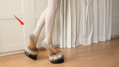艺术家自制羊蹄高跟鞋,另类美感让人想入非非!网友:不敢恭维!